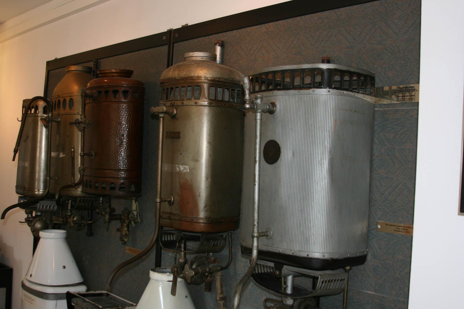 Газовые колонки. Музей газоснабжения Варшавы