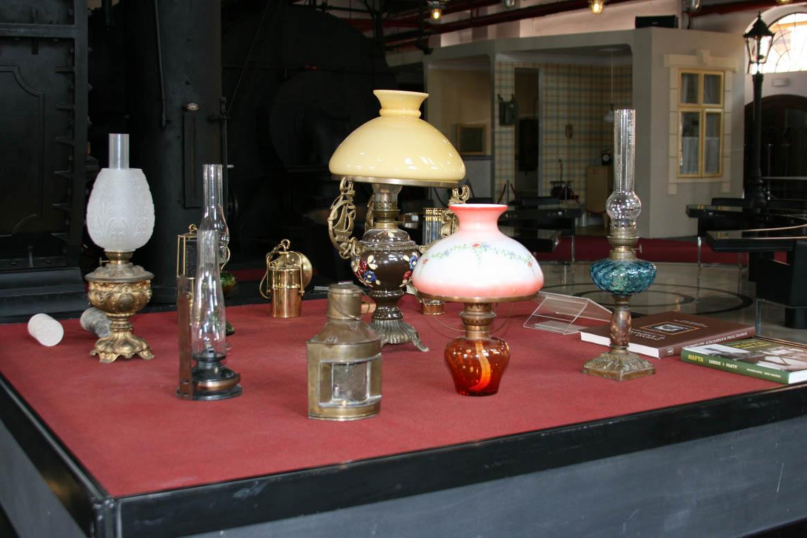 Газовые лампы. Музей газоснабжения Варшавы